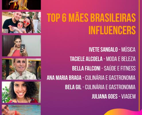 TOP 6 MÃES BRASILEIRAS INFLUENCERS
