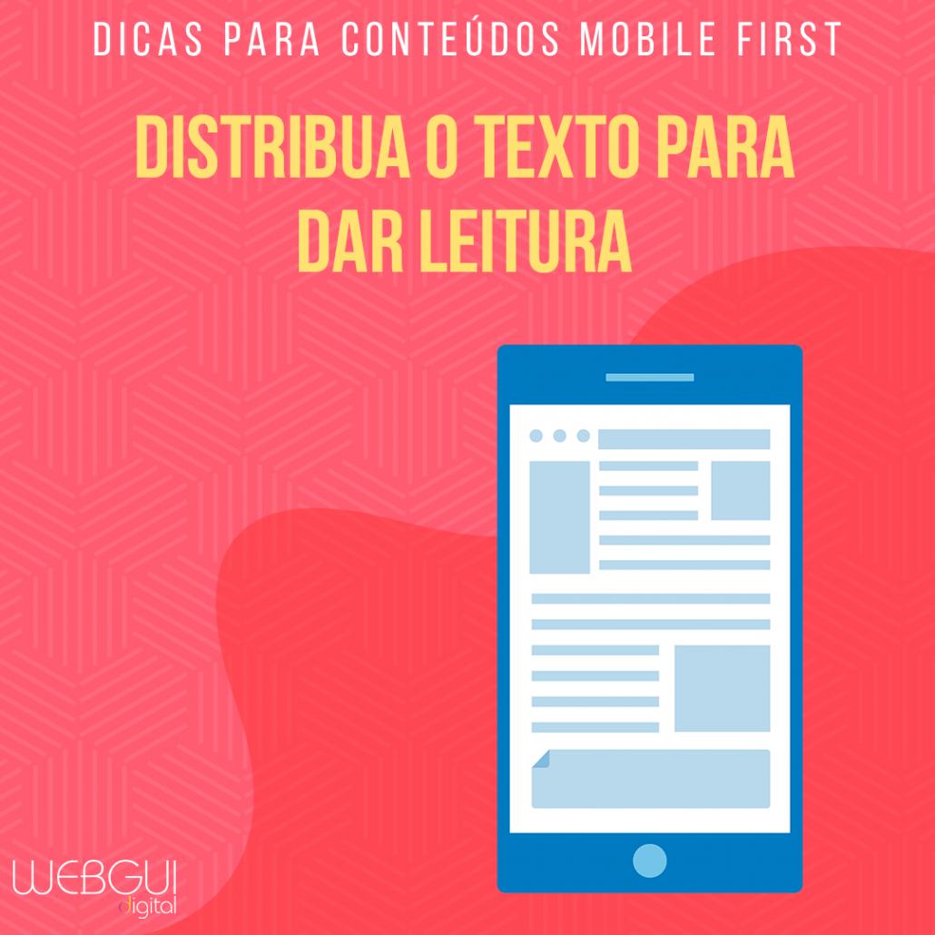 Dicas para conteúdos mobile first