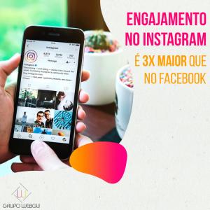 Engajamento no Instagram é 3X maior que no Facebook
